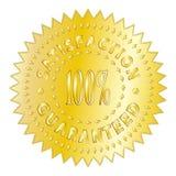 Gold Satisfaction Guaranteed Badge Royalty Free Stock Images