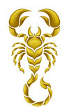 Gold scorpion Stock Image