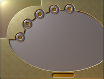 Gold screen. Metallic gold screen with buttons vector illustration