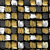 Gold scribble square fancy pattern seamless retro Royalty Free Stock Image