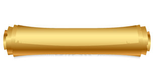 Gold scroll Stock Image