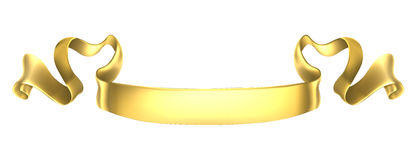 Gold Scroll Banner Stock Photo