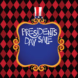Gold scroll frame Presidents Day background Royalty Free Stock Photography