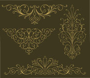 Gold Scroll Ornaments Royalty Free Stock Image