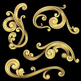 Gold Scrolls Set Royalty Free Stock Photo