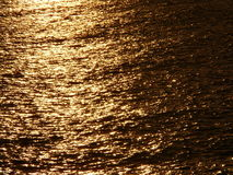 Gold sea Stock Image