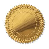 Gold seal. First place prize blue ribbon gold seal award medal isolated on white stock illustration