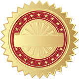 Gold seal. On white background Royalty Free Stock Photography