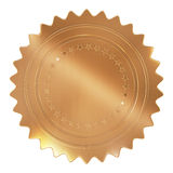 Gold Seal. High quality render isolated on white background Stock Photo