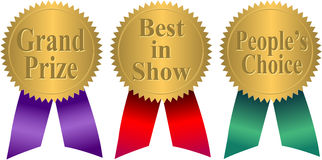 Gold Seal Award Ribbons/eps Royalty Free Stock Images
