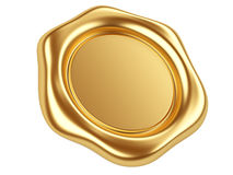 Gold seal. 3d illustration gold seal isolated on a white background Royalty Free Stock Image