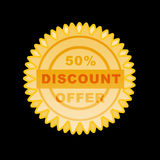Gold seal discount Royalty Free Stock Image