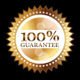 Gold Seal guarantee. Gold Seal 100% guarantee for sticker or label Vector Illustration