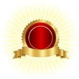 Gold seal and ribbon stock illustration