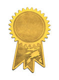 Gold Seal and Ribbons Royalty Free Stock Photo