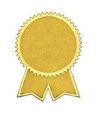 Gold Seal With Ribbons Royalty Free Stock Images