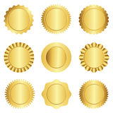 Gold seal / stamp collection Royalty Free Stock Image
