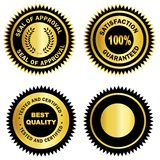 Gold seal /Stamp /Medal blank Royalty Free Stock Photography