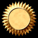 Gold Seal Starburst Stock Images