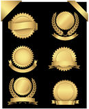 Gold Seals and Corners Royalty Free Stock Photo