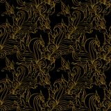 Gold seamless Fashion patterns. Stock Photos