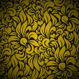 Gold Seamless Floral Background Royalty Free Stock Images