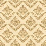 Gold seamless floral elegant wallpaper Stock Photos