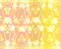 Gold seamless flower pattern Stock Photography