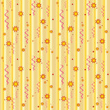 Gold seamless pattern. Yellow seamless holiday pattern. Vector Stock Photos