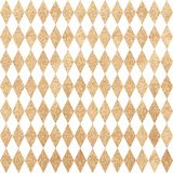 Gold seamless pattern. Diamonds foil on a white background. Fest Stock Images