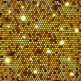 Gold seamless pattern of hexagons Stock Image