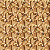 Gold seamless polygonal pattern. Royalty Free Stock Images
