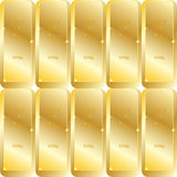 Gold seamless texture. With samples inscription Royalty Free Stock Images