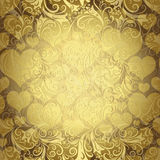 Gold seamless valentine pattern Royalty Free Stock Images