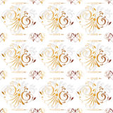 Gold Seamless Vintage Floral Background. Can be used as textile, fabric or wrapping paper Stock Photos