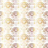 Gold Seamless Vintage Pattern. Can be used as textile, fabric or wrapping paper Stock Images