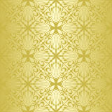 Gold seamless wallpaper. Royalty Free Stock Photo