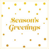 Gold seasons greetings card design Stock Photography
