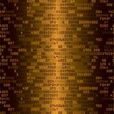 Gold security background with HEX-code Stock Photography