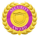 Gold Security Winner Laurel Wreath Medal Stock Images
