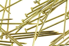 Gold sequin pins Stock Image