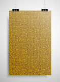 Gold sequin poster on the wall. Eps 10. Royalty Free Stock Photography