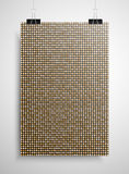 Gold sequin poster on the wall. Eps 10. Stock Photos