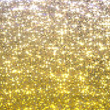 Gold sequins background Stock Image
