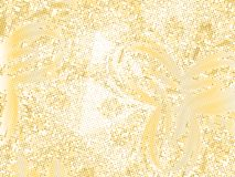 Gold sequins texture. Abstract halftone background. Vector golden pattern of round elements. Royalty Free Stock Photography