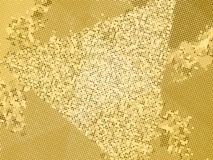 Gold sequins texture. Abstract halftone background. Vector golden pattern of round elements. Royalty Free Stock Image