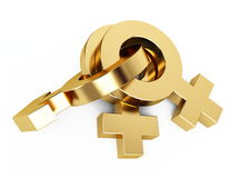 Gold sex symbol Royalty Free Stock Images