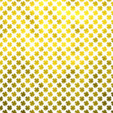 Gold Shamrock Four Leaf Clover St. Patrick's Day Polka Dot Irish Dots Stock Images