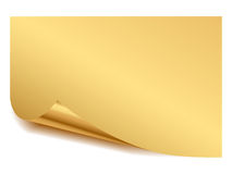 Gold sheet. Illustration of sheet of paper of gold color Royalty Free Stock Photography