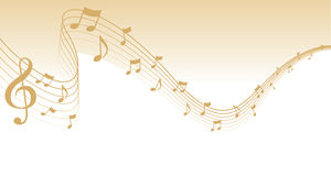 Gold Sheet Music Page Border Royalty Free Stock Photos